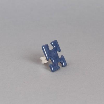 Bague PUZZLE coloris bleu marine