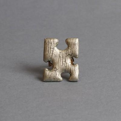 Bague Puzzle Cracky doré