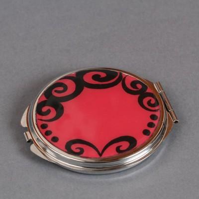 Miroir de poche rose