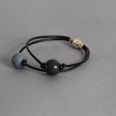 Bracelet  Gris et Bleu